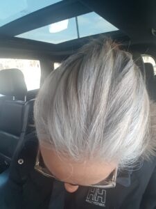 natural gray grey silver hair transition story sparklingsilvers