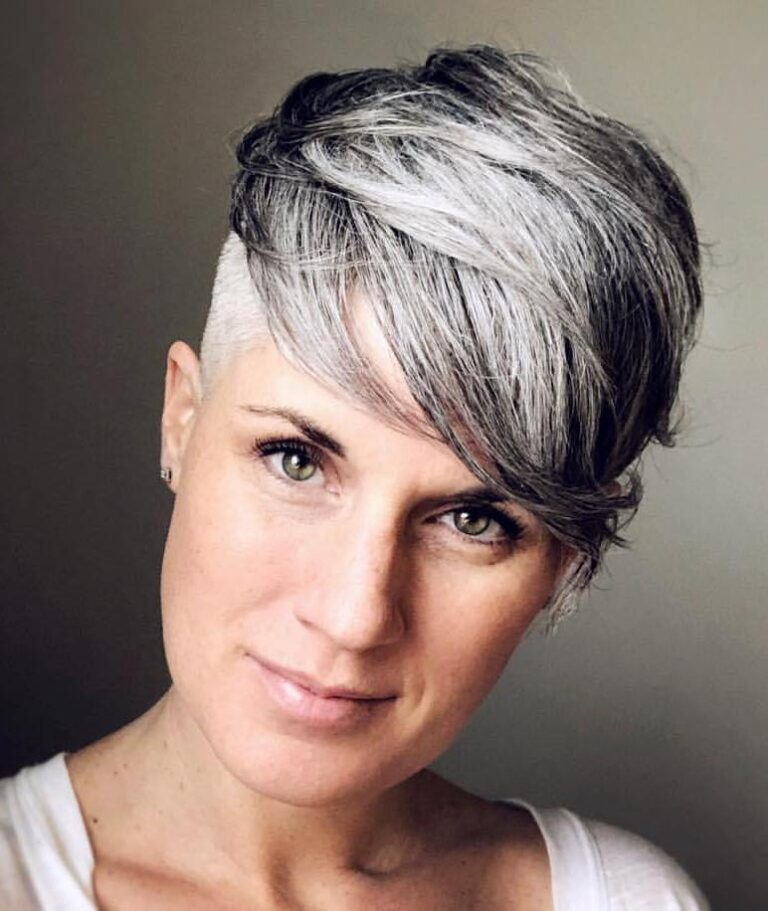 Marci's short pixie hairstyle www.sparklingsilvers.com