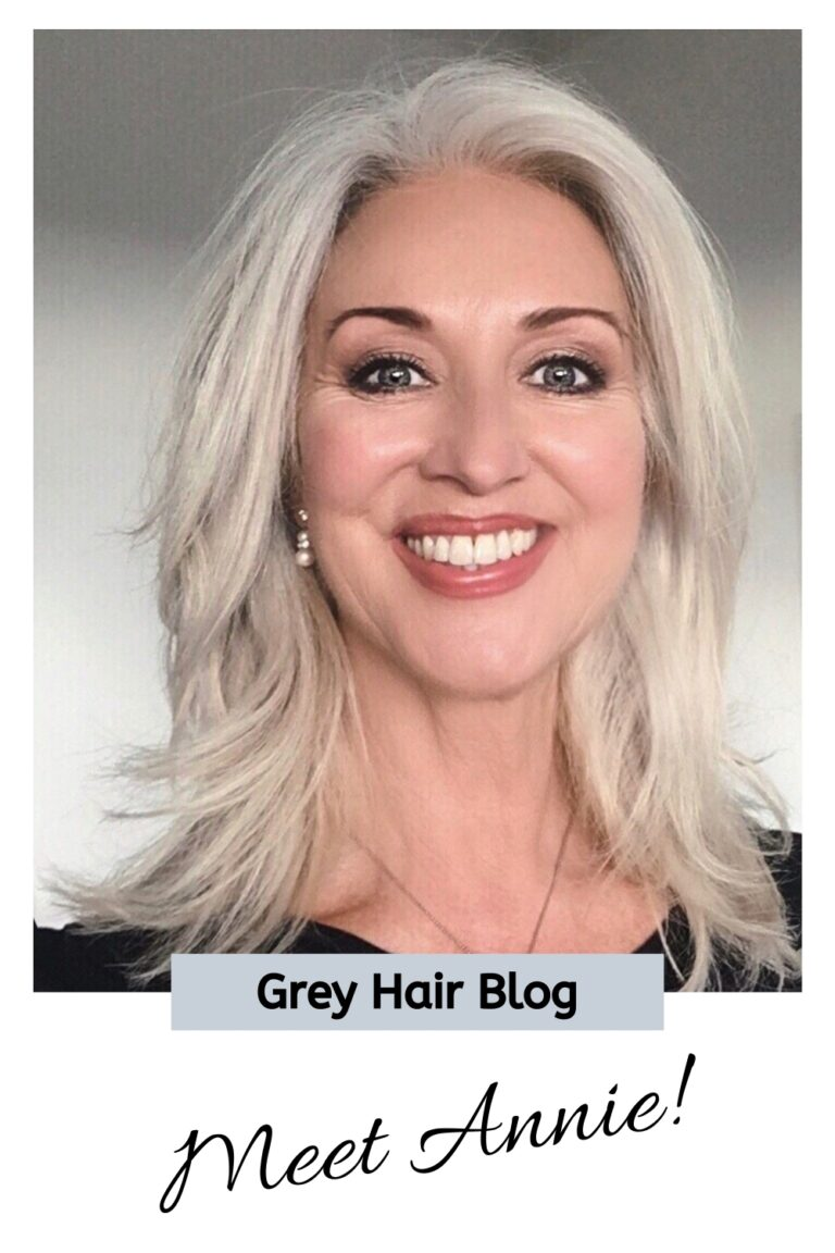 sparklingsilvers.com annie's natural gray silver grey hair transition story