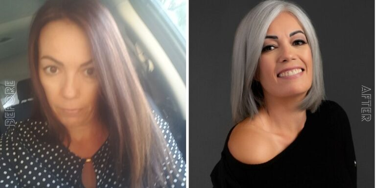 before and after gray hair pictures images