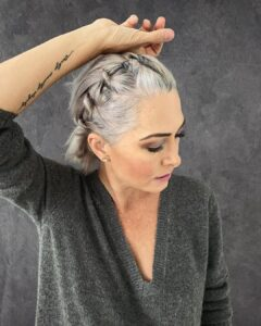 Front Hair twists Gorgeous Gray Hair styles