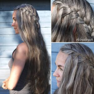 Long gray hair braid Gorgeous Gray Hair styles
