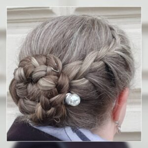 Braided Bun Gorgeous Gray Hair styles