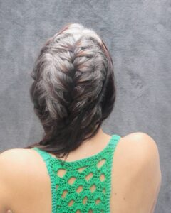 French braid Gorgeous Gray Hair styles