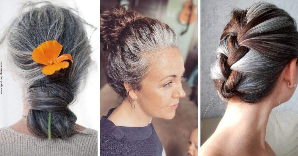 Gray Hair Styles Updos
